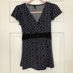 Maurices black and purple blouse small